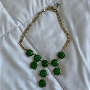 Emerald Green tiered Stone Bob Necklace